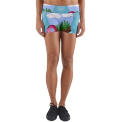 Pig Animal Love Yoga Shorts