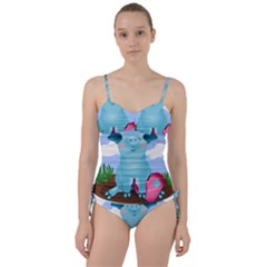 Pig Animal Love Sweetheart Tankini Set