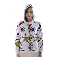 Panda China Chinese Furry Hooded Wind Breaker (women)