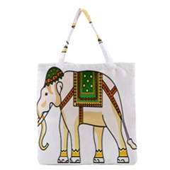 Elephant Indian Animal Design Grocery Tote Bag by Nexatart