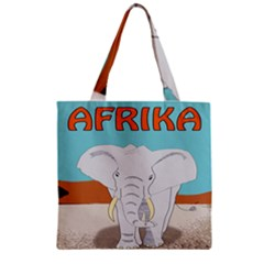 Africa Elephant Animals Animal Zipper Grocery Tote Bag by Nexatart