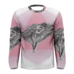 Lizard Hexagon Rosa Mandala Emblem Men s Long Sleeve Tee