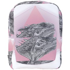 Lizard Hexagon Rosa Mandala Emblem Full Print Backpack by Nexatart