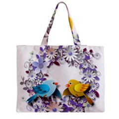 Flowers Floral Flowery Spring Zipper Medium Tote Bag by Nexatart