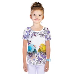 Flowers Floral Flowery Spring Kids  One Piece Tee