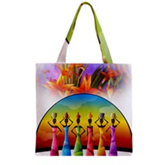 African American Women Grocery Tote Bag by AlteredStates