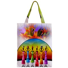 African American Women Zipper Classic Tote Bag by AlteredStates