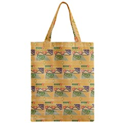 Hand Drawn Ethinc Pattern Background Zipper Classic Tote Bag by TastefulDesigns