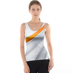 Abstraction Yellow White Line  Tank Top by amphoto