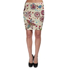 Texture Birds Hearts Background Balls Surface  Bodycon Skirt by amphoto
