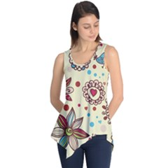 Texture Birds Hearts Background Balls Surface  Sleeveless Tunic by amphoto