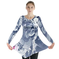 Abstraction Drawing Imagination Pattern Light Brightness Long Sleeve Tunic  by amphoto