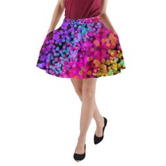 Colorful Community Glare Bright  A Line Pocket Skirt by amphoto