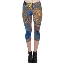 Abstract Pattern R 24 Resize Capri Leggings  by amphoto