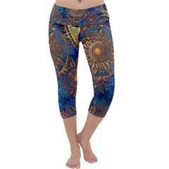 Abstract Pattern R 24 Resize Capri Yoga Leggings by amphoto