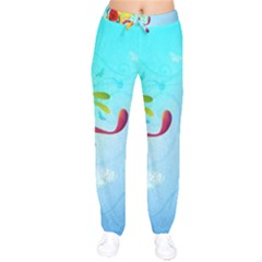 Patterns Multicolored Colorful  Drawstring Pants by amphoto
