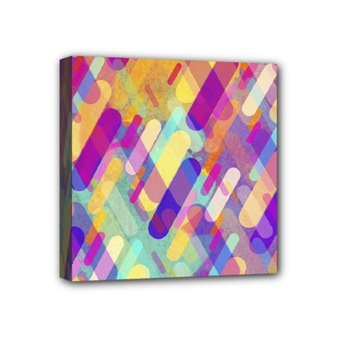 Colorful Abstract Background Mini Canvas 4  X 4  by TastefulDesigns