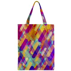 Colorful Abstract Background Zipper Classic Tote Bag by TastefulDesigns