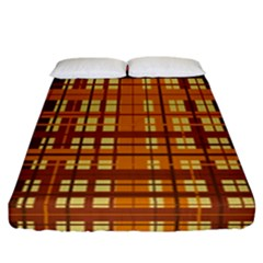 Plaid Pattern Fitted Sheet (california King Size) by linceazul