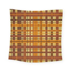 Plaid Pattern Square Tapestry (small) by linceazul