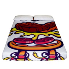 Burger Kill Fitted Sheet (queen Size) by quirogaart