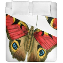 Butterfly Bright Vintage Drawing Duvet Cover Double Side (california King Size) by Nexatart