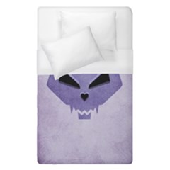 Purple Evil Cat Skull Duvet Cover (single Size) by CreaturesStore