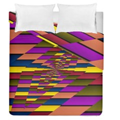 Autumn Check Duvet Cover Double Side (queen Size) by designworld65