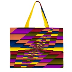 Autumn Check Zipper Large Tote Bag by designworld65