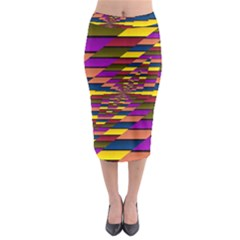 Autumn Check Midi Pencil Skirt by designworld65