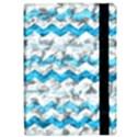 Baby Blue Chevron Grunge Apple iPad Pro 12.9   Flip Case View2