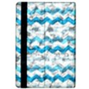 Baby Blue Chevron Grunge Apple iPad Pro 12.9   Flip Case View4