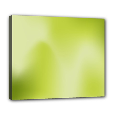 Green Soft Springtime Gradient Deluxe Canvas 24  X 20   by designworld65