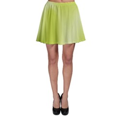 Green Soft Springtime Gradient Skater Skirt