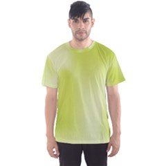 Green Soft Springtime Gradient Men s Sports Mesh Tee