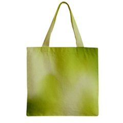 Green Soft Springtime Gradient Zipper Grocery Tote Bag by designworld65
