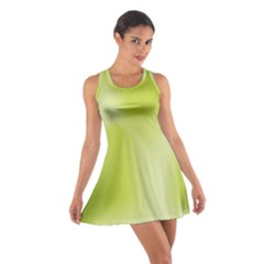 Green Soft Springtime Gradient Cotton Racerback Dress