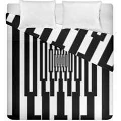 Black Stripes Endless Window Duvet Cover Double Side (king Size)