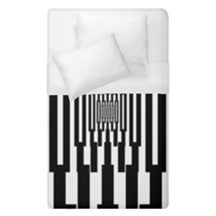 Black Stripes Endless Window Duvet Cover (single Size)