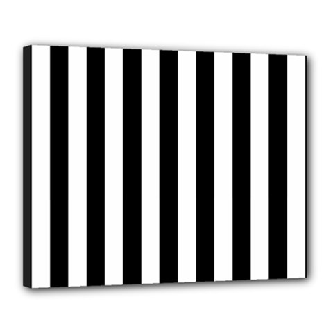 Black And White Stripes Canvas 20  X 16  by designworld65