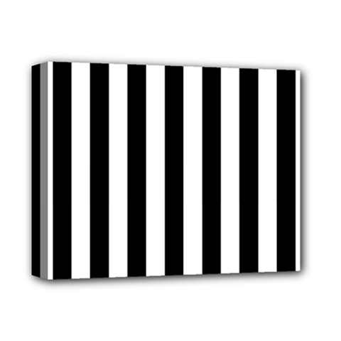 Black And White Stripes Deluxe Canvas 14  X 11  by designworld65