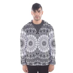 Feeling Softly Black White Mandala Hooded Wind Breaker (men)