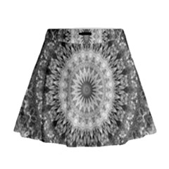 Feeling Softly Black White Mandala Mini Flare Skirt