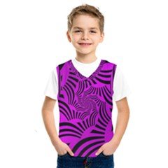 Black Spral Stripes Pink Kids  Sportswear