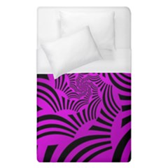 Black Spral Stripes Pink Duvet Cover (single Size) by designworld65