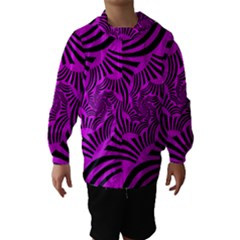 Black Spral Stripes Pink Hooded Wind Breaker (kids) by designworld65