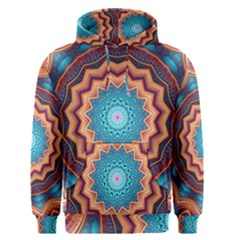 Blue Feather Mandala Men s Pullover Hoodie
