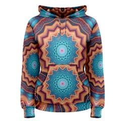 Blue Feather Mandala Women s Pullover Hoodie