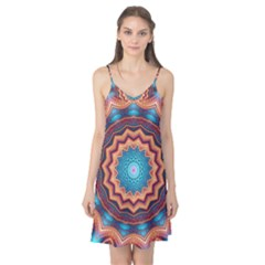 Blue Feather Mandala Camis Nightgown