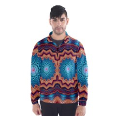 Blue Feather Mandala Wind Breaker (men)